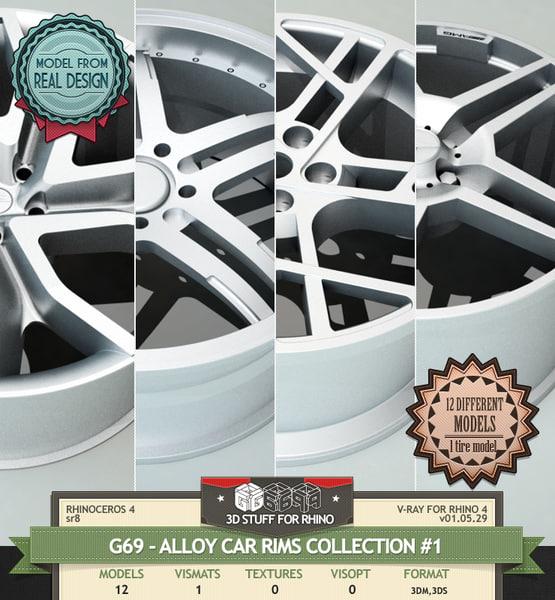 3d model rim 1 wheel