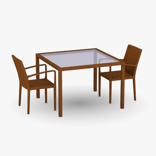 table chairs 3d obj