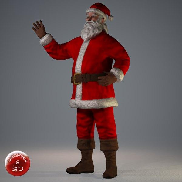 posed santa claus 3d model