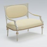 sofa old fashioned 3d max