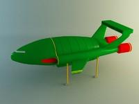 3d thunderbird 2 model