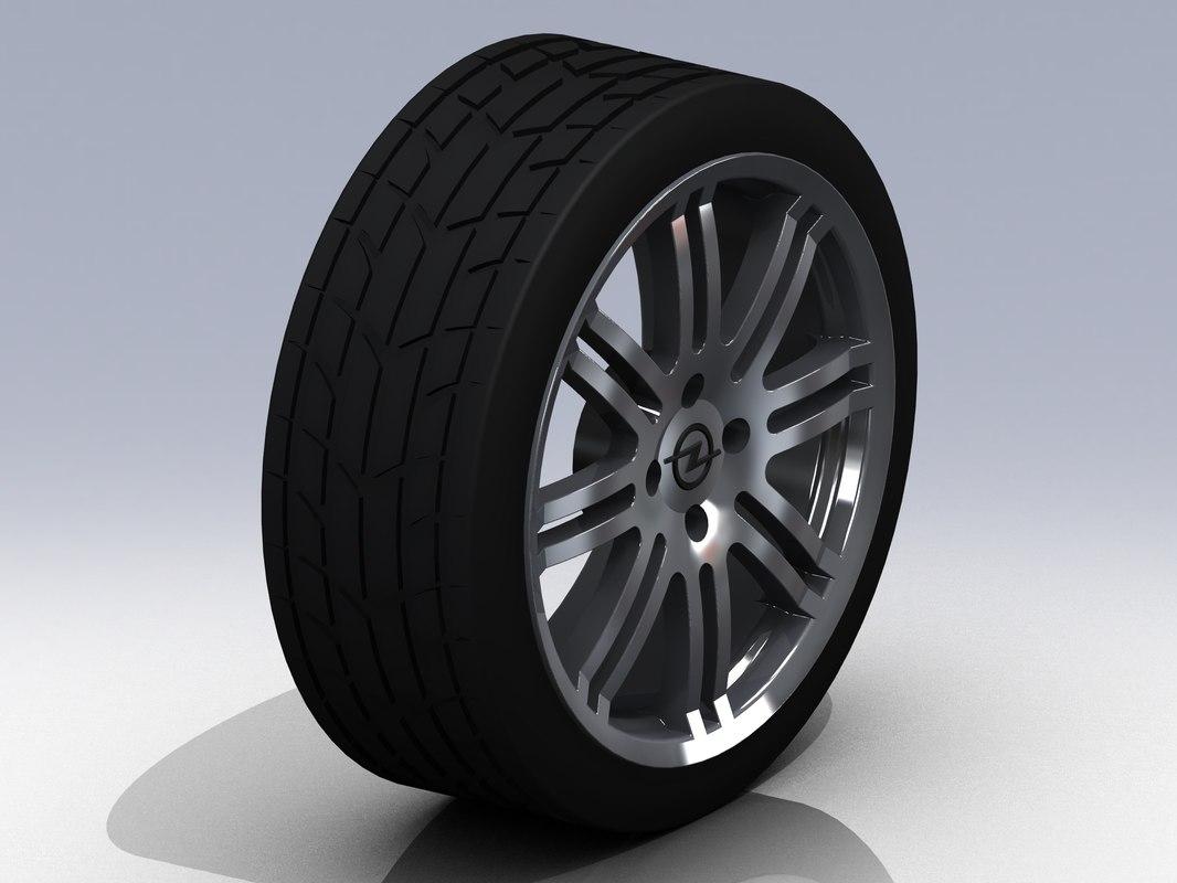 15 opel wheel tire 3d 3ds