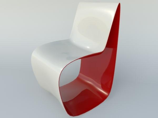 plastic chair 3d 3ds