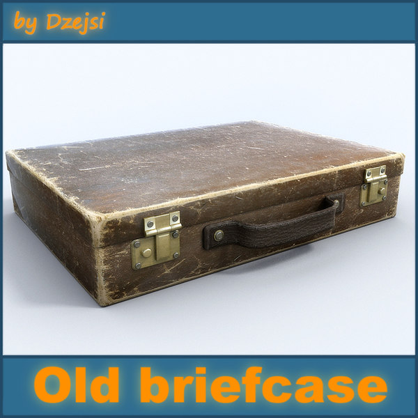3d model old small briefcase