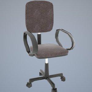 modern office chair 3d obj