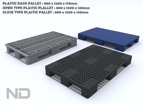3ds max plastic pallet 800x1200x170