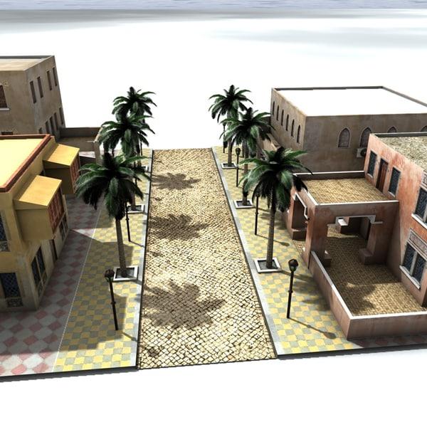 c4d arab city houses