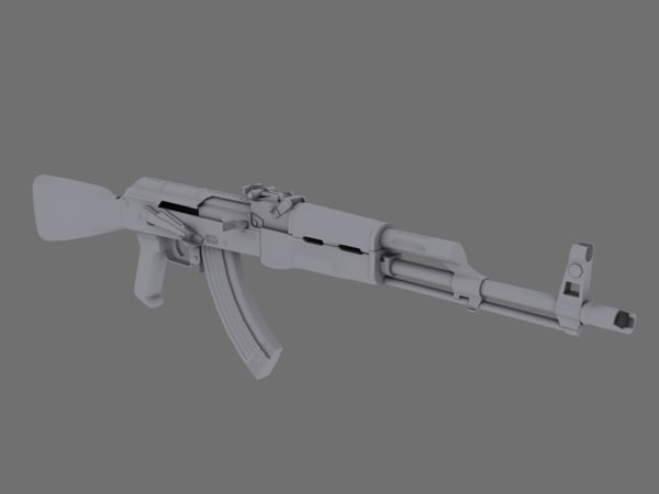 3d akm assault rifle