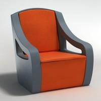 realistic armchair c4d