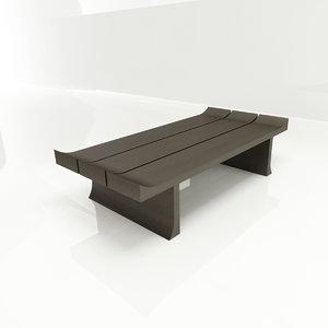 3d model aura coffee table