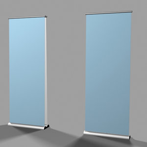 3d single banner stands