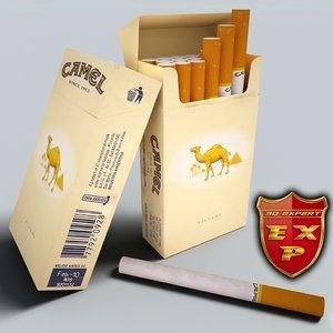 camel pack cigarettes 3d model