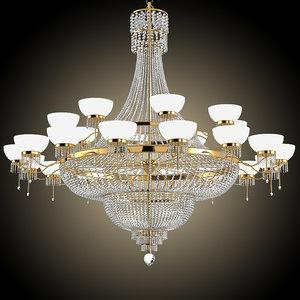 3d model crystal chandelier big