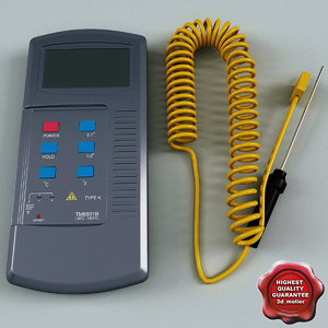 digital thermometer tm6801b 3d obj