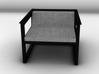 efe chair 3d 3ds