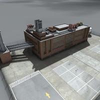 3d model of factory complex