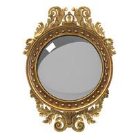 Girandole classic round mirror carved classic baroque classical rococo traditional