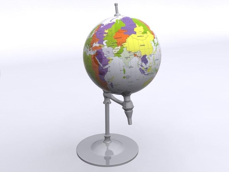 globe scene 3d max