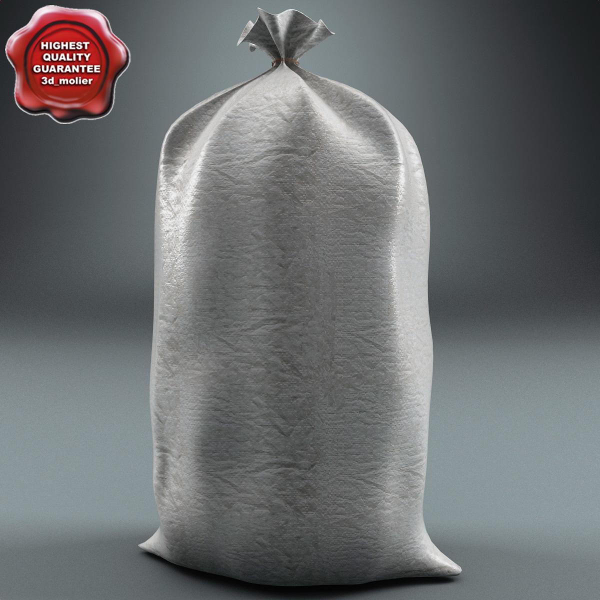industrial plastic bag 3d model