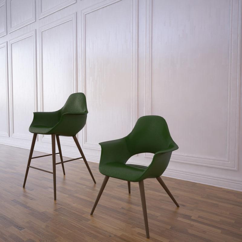 3d max organic chair