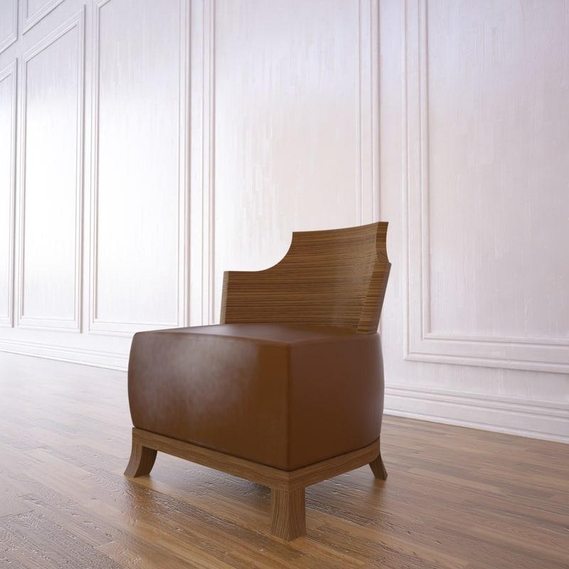 3d model curva chair