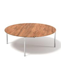 Minotti norman round cocktail coffee table modern contemporary