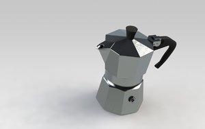 3d model moka bialetti