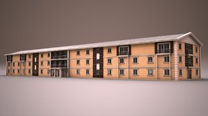 prefabricated building 3d 3ds