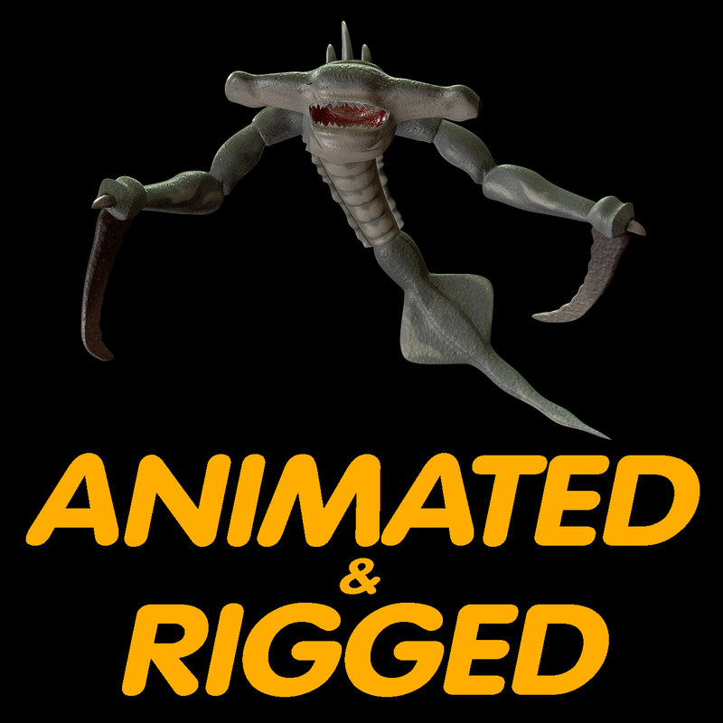 3d rigged character model