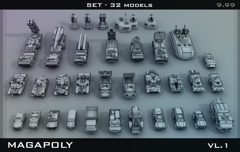 3ds max set military