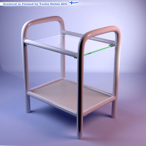 bedside table nightstand 3d model