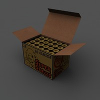 box shotgun shells 3d model