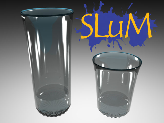 3d single double shot glasses model