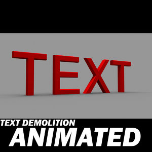 alphabet letters demolition 3d model