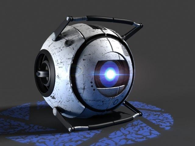 wheatley video character robot 3d model
