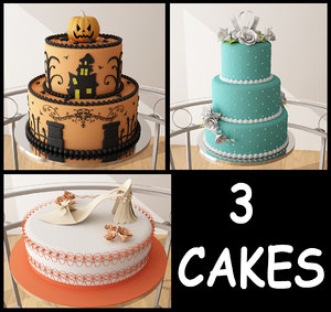 3d model cake