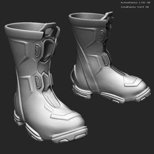 3d boots pilot