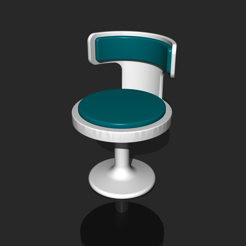 3d retro style chair alternate