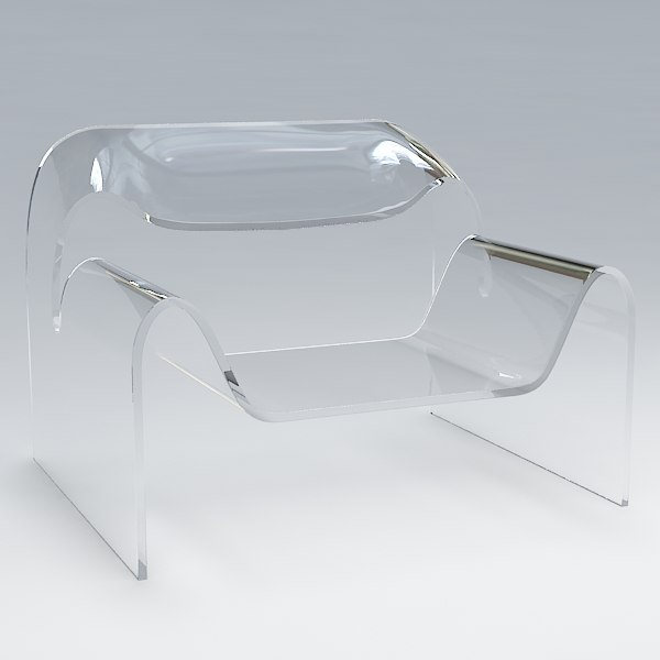 3d dxf glass chair