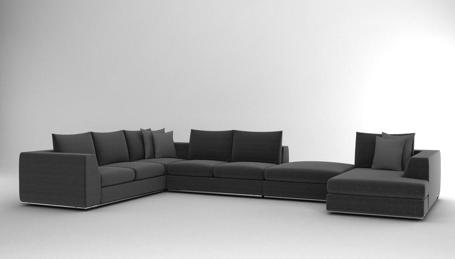 3d max sectional sofa comodo