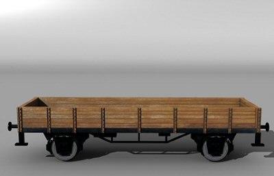 german flatcar 3d model