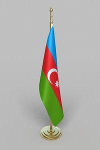 3d model azerbaijan flag