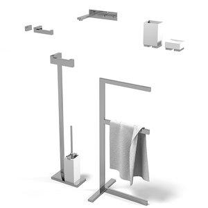 gessi rettangolo accessories 3d max
