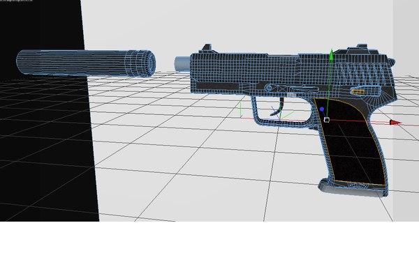 3d model gun silencer