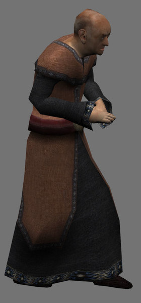 3d monk priest wizard model