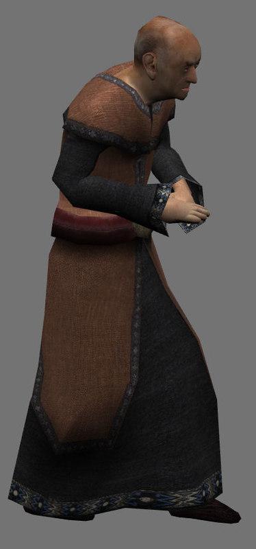 3d monk priest wizard model