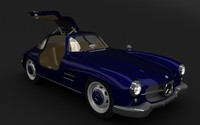 mercedes benz 300sl gullwing 3d ma