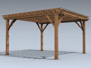 3ds backyard pergola