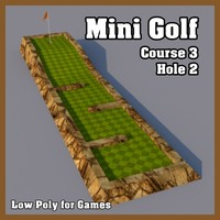 Low Poly Mini Golf Hole C3H2