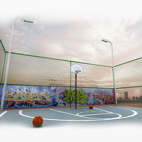 photorealistic basketball court 3ds